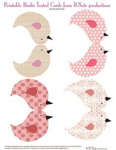 leuk papieren vogeltjes
