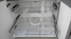 Built-in kitchen pull out basket with dish drainer - Furniture & Decoration for sale in Puchong, Selangor