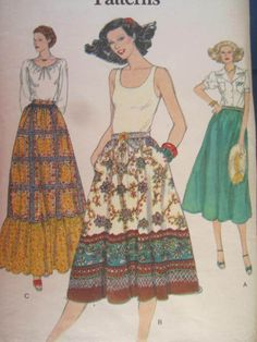 See Sally Sew-Patterns For Less - Dirndl Skirt Easy Vintage Fashion Vogue 9812 Pattern Sz. 26 1/2, $8.00 (http://stores.seesallysew.com/dirndl-skirt-easy-vintage-fashion-vogue-9812-pattern-sz-26-1-2/)