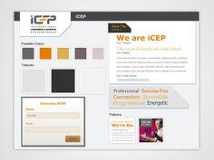 Style Tiles for iCEP website design on Behance