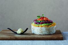 Japanese food by makiko Japanese Food, Sushi, Panna Cotta, Ethnic Recipes, Dulce De Leche