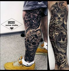 The 85 Best Leg Tattoos for Men Improb, The 85 Best Leg Tattoos For Men Improb. The 85 Best Leg Tattoos For Men Improb. Colorful Sleeve Tattoos, Skull Sleeve Tattoos, Leg Tattoo Men, Best Sleeve Tattoos, Body Art Tattoos, Leg Sleeve Tattoo, Forearm Sleeve, Forearm Tattoos, Shoulder Tattoo