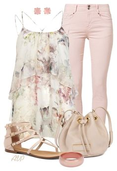 """Cami and Jeans - Pretty in Pink"" by amy-phelps ❤ liked on Polyvore featuring Soyaconcept, River Island, Marc by Marc Jacobs, Sole Society, Les Néréides and STELLA McCARTNEY"
