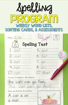 1st Grade Spelling A