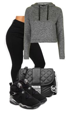 """Hola, Como Estas"" by thelaurenn ❤ liked on Polyvore featuring Topshop, MICHAEL Michael Kors and NIKE"