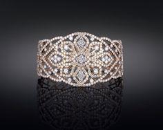 Diamond Openwork Bangle Bracelet