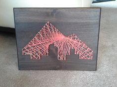 Everything I want, and nothing I don't: Annual Janky Christmas gifts YEAR 2!  Denver Skyline String Art