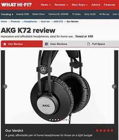 """""""The AKG K72s look and feel great given how cheap they are but the real draw here is the sound. Its expansive with width and scale just not heard in the kind of headphones found on the high street at 40. The AKG K72  the final model - read more on our website #news... . . . #akg #audio #review #whathifi #k72 #akgaudio #headphones #sound #audio #listen #quality #soundtechuk #magazine #5star #affordable #great #impressive #homeaudio #audiophile"""