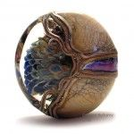 Close-up of a lampwork bead by Canadian artist Sherry Bellamy.