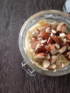 Overnight oats med kokusmel og æblemos - YUM!