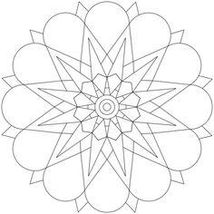 Mandala-Ausmalbild Nr. 122