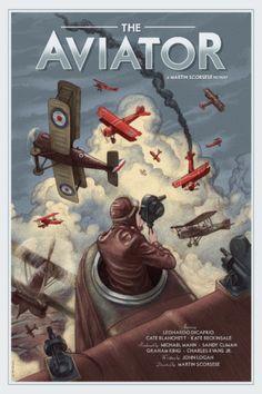 El aviador (2004), Martin Scorsese. Póster Alternativo de Jonathan Burton