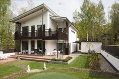 Faktat Lammi-Kivitalosta - LAMMI-KIVITALO - Lammi Kivitalot Terrace Decor, Stone Houses, Home Fashion, Future House, Habitats, House Plans, Mansions, House Styles, Outdoor