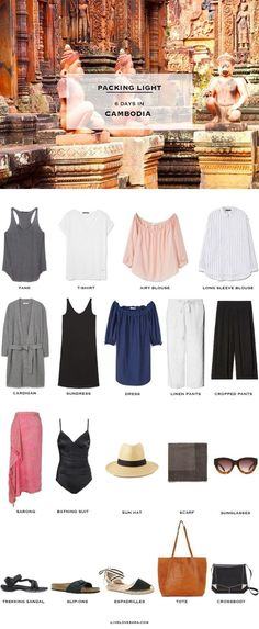 You searched for - livelovesara What to pack for Cambodia Packing Light List Summer Packing Lists, Packing Tips For Travel, Capsule Outfits, Capsule Wardrobe, New Travel, Travel Style, Travel Fashion, Beach Travel, Thailand Outfit