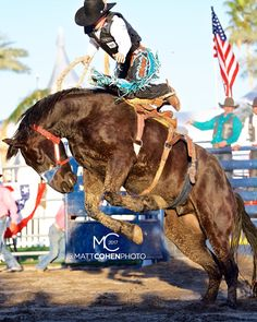. @ryd_wright98 / 045 Colt 45 of Flying U, Eisenhower Medical Center Ride for the Brand Rodeo 2017
