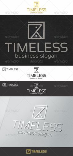 Sand Clock - Timeless Logo - Sand Clock Minimalistic Logo – Excellent logo for media business, web developers, graphic designers, creative agencies, clothing business, business industries, and many more.