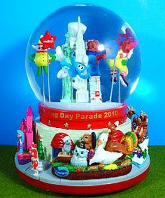 Smurfs Snow Globes Snowglobes Squeacky Stationary Sgt Papas Smurf Collection