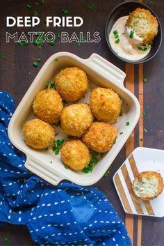 Deep Fried Matzo Balls