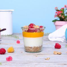 Ricetta: gustose mini cheesecake con mango e lamponi