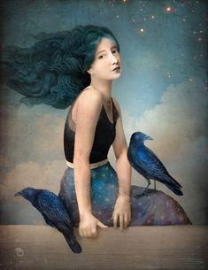 """Nightfall"" Digital Art by Christian Schloe buy now as poster, art print and greeting card.."