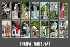 Found a bunch of interesting mailboxes while visiting South Florida. #PhotoSpills #collage #Florida #mailboxes #manatee #seahorse #dolphin #pelican