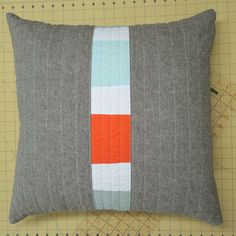 Modern Decorative Pillow Linen Triptych 20 by bperrino on Etsy