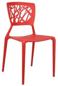 SILLA WIM POLIPROPILENO COLOR ROJO « The Popular Design