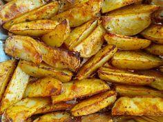 Cartofi prajiti la cuptor Chicken Wings, Bacon, Deserts, Pizza, Potatoes, Meat, Vegetables, Cooking, Cinder Blocks