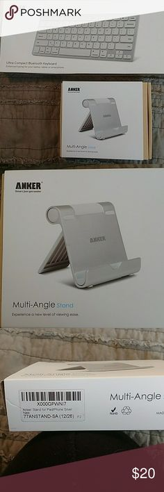 New in box iPad atand and Bluetooth keyboard New Anker multi-angle iPad stand and Anker Bluetooth Ulta compact keyboard. Never used. Other