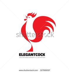 Elegant cock - rooster vector logo template concept illustration. Bird sign…