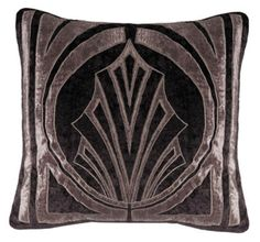 The HOLLYWOOD square cushion cover in crushed velvet, by Sue Wong for EnglishHome.com.