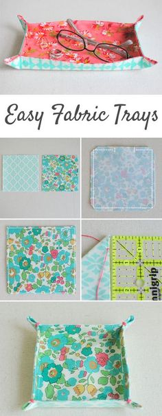 I use these Easy Fabric Trays on my dresser and nightstand decor to keep jewelry and glasses, but the uses are endless! Find the mini tutorial at Clover & Violet.