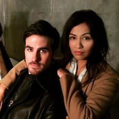 karendavidofficial: Practicing the @colinodonoghue1 smoulder on set. Think I should leave it to the pro...@onceabcofficial