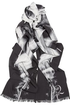 McQ Alexander McQueen Printed silk scarf NET-A-PORTER.COM