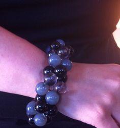 love this chunky black bead bracelet!!   www.ssuniquejewelry.com