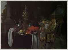 Still Life: A Banqueting Scene. Jan Davidsz de Heem (Dutch, Utrecht 1606–1683/84 Antwerp) #baroquemood #vanitas #decadence #decline
