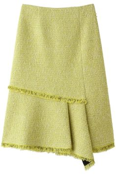 Skirt Wednesday looks great in Wool with a touch of fringe. Blouse And Skirt, Skirt Pants, Dress Skirt, Cute Skirts, Short Skirts, Diy Fashion, Womens Fashion, Fashion Design, Classic Skirts