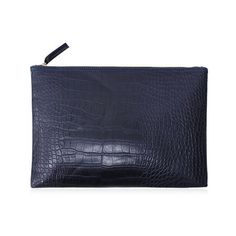 Cadetblue Crocodile Pattern Faux Leather Clutch Bag (7.60 CAD) ❤ liked on Polyvore featuring bags, handbags, clutches, vegan handbags, vegan leather purses, vegan leather handbags, faux leather handbags and crocodile purse