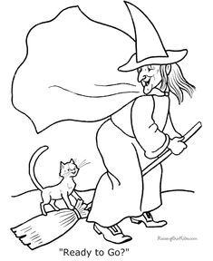 Printable Halloween coloring sheets - Dozens to choose - FREE