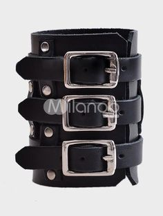 I found Punk Buckles Cowhide Fashion Bracelet on Wish, check it out!