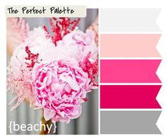 Looking for your wedding color palette? The Perfect Palette wants to help! The Perfect Palette is dedicated to helping you see the many ways you can use color to bring your wedding to life. Colour Pallette, Color Palate, Colour Schemes, Pink Palette, Color Combinations, Our Wedding, Destination Wedding, Wedding Planning, Dream Wedding