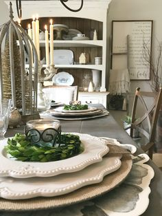 Seven Gorgeous Holiday Tablescape Ideas - How you can create a gorgeous holiday table in winter whites and farmhouse decor details.