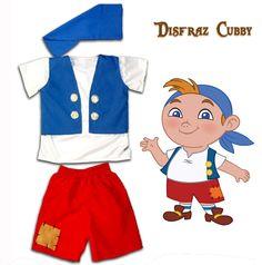 Disfraz Cubby - Jake y los piratas de Nunca Jamás