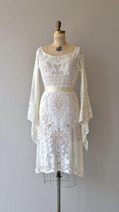 Lost in a Dream dress vintage 1970s bohemian lace by DearGolden
