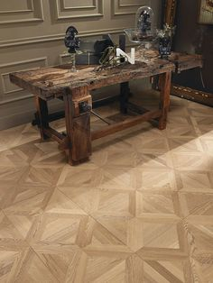 Parquet A disegno Entryway Tables, Furniture, Home Decor, Rustic Dining Rooms, Houses, Parquetry, Living Room, Decoration Home, Room Decor