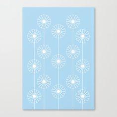 Dandelion Pattern #1 | Springtime approaching with a beautifully illustrated dandelion design. #graphicdesign #design #illustration #unique #flowery #girly #botanic #pattern #botanical #plant #flower #patterns #plants #elegant #flowers #floral #nature #garden #kathrinmay #dandelion #society6 #artprint