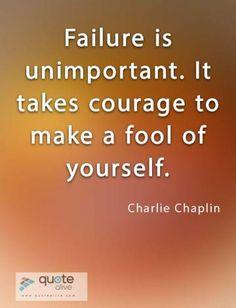 Failure Quotes, Charlie Chaplin, The Fool