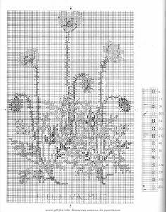 ru & Фото - Wild Flowers in Cross-Stitch - Mosca Cross Stitching, Cross Stitch Embroidery, Cross Stitch Patterns, Just Cross Stitch, Cross Stitch Flowers, Filet Crochet, Chart Design, Fashion Sewing, Pattern Books