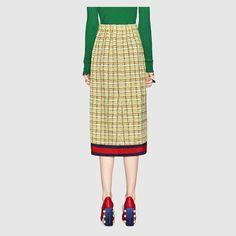 Gucci Tweed mid-length skirt Detail 4