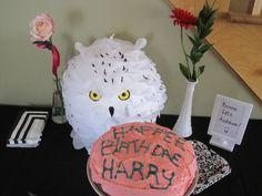 Hedwige Pinata et gâteau Harry Potter
